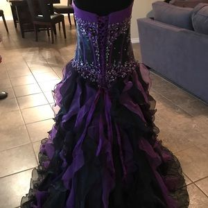 Mary's Bridal Dresses - Purple and Black Mary's Bridal Princess Ball Gown.